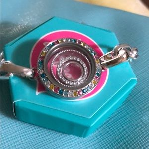 Silver & multicolor bracelet set